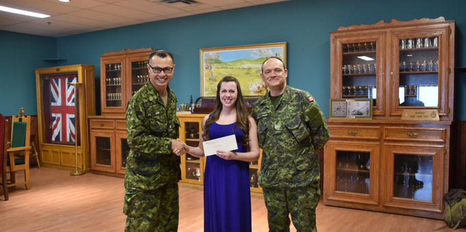 {CP Rail & LdSH(RC) Regimental Society Scholarship Presentations 2017}
