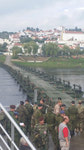 A German raft bridge erected across the Tejo River near Santa Margarida, Portugal as part of Exercise TRIDENT JUNCTURE 2015.