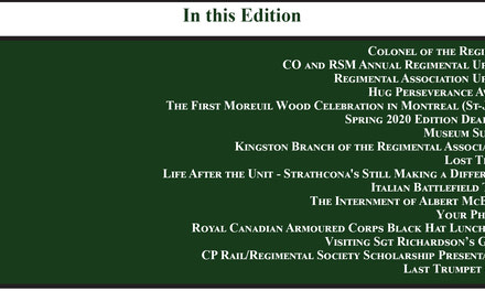 Regimental Society Newsletter